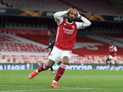 Arsenal 1-1 Slavia Prague: Mikel Arteta's Gunners fail to hold onto slender lead in Europa League disappointment