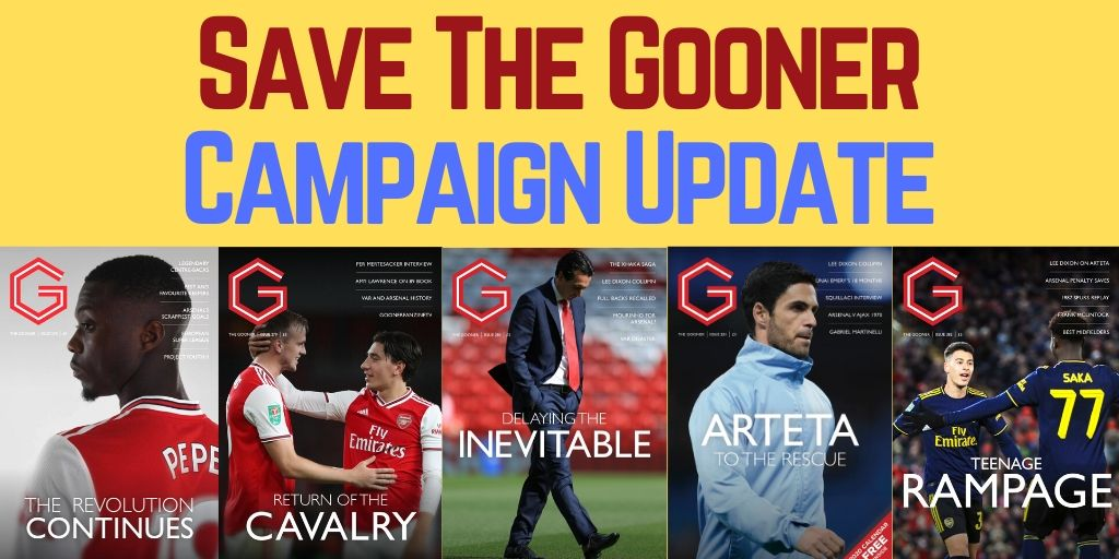 5 Days Left To Save Arsenal's The Gooner Fanzine!
