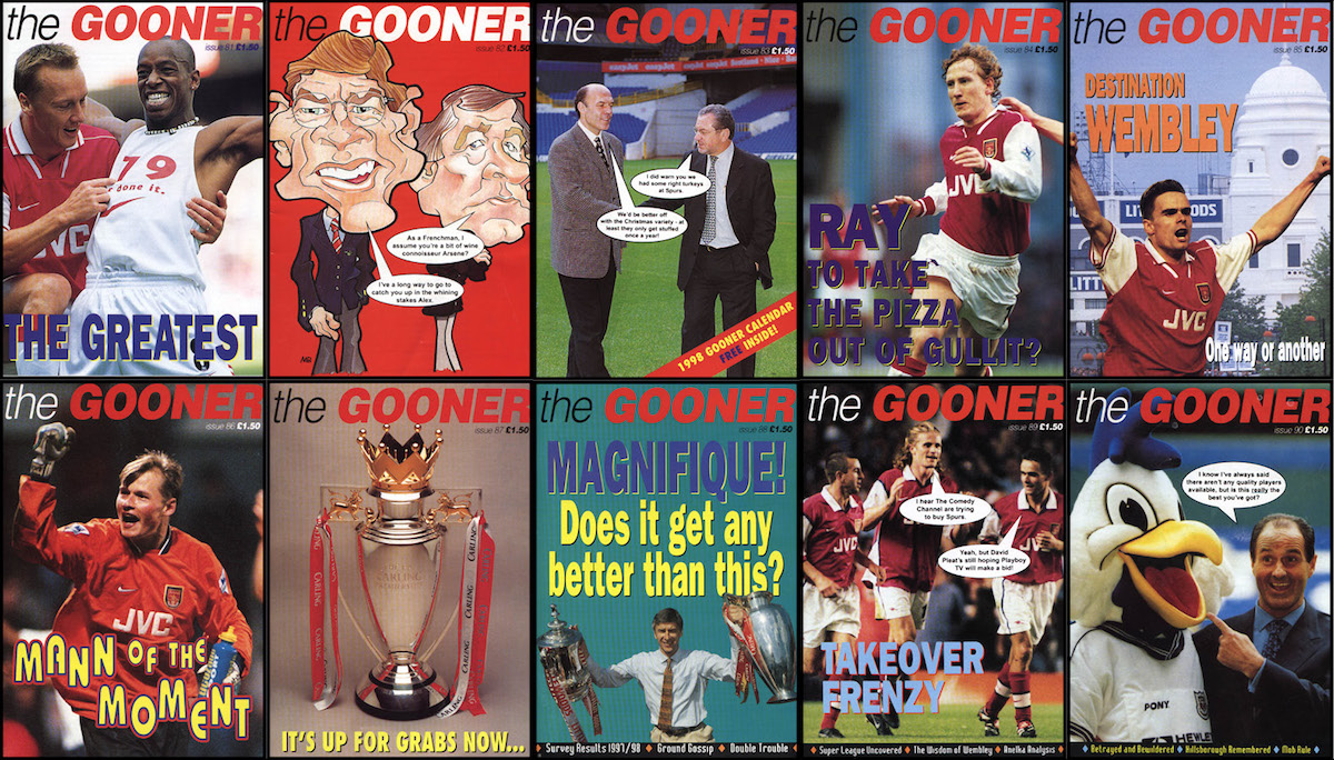 The Gooner fanzine / onlinegooner website update