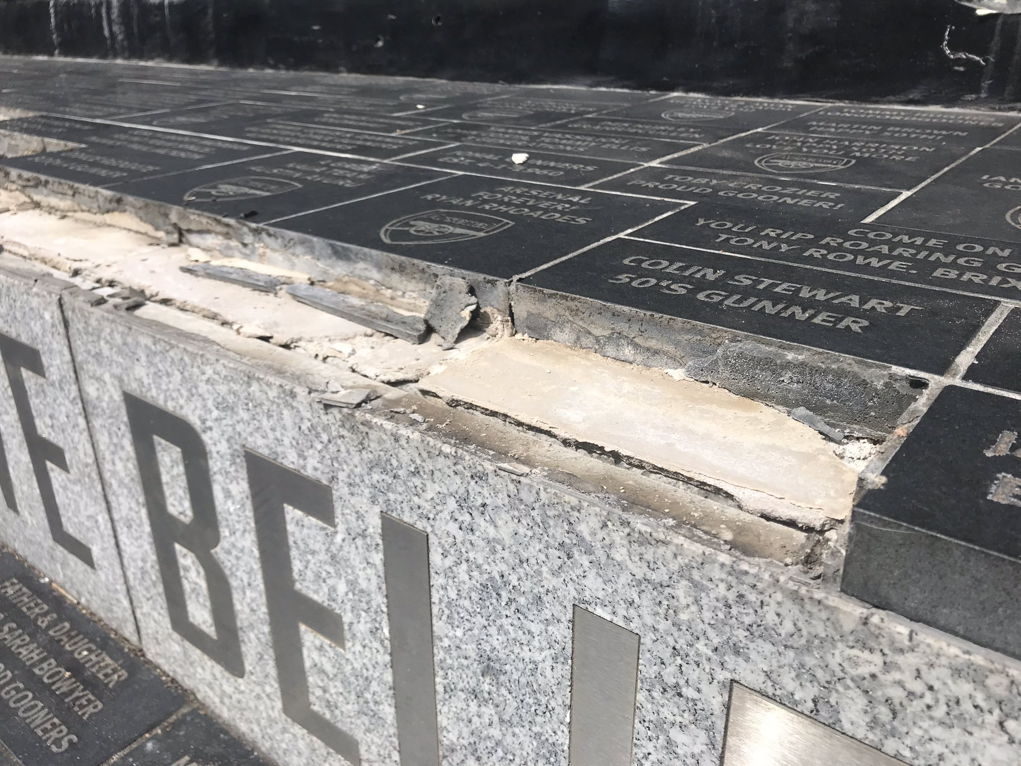 IS NOTHING SACRED – VANDALS DESECRATE ARSENAL MEMORIALS OUTSIDE EMIRATES