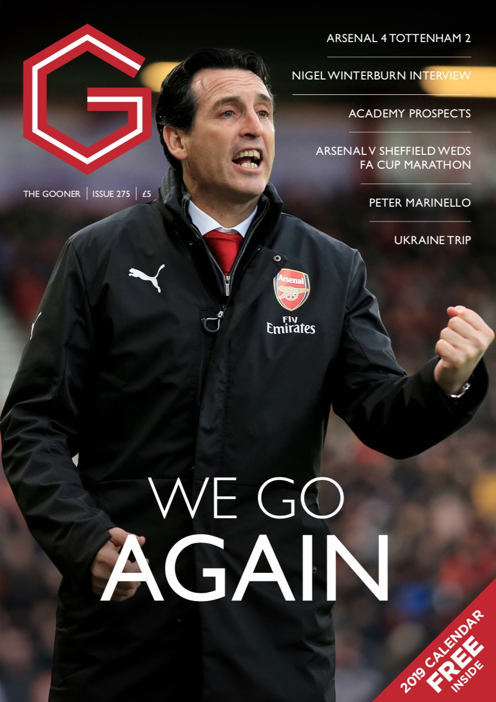 Gooner Issue 275 - Front Cover